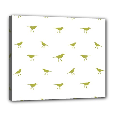 Birds Motif Pattern Deluxe Canvas 24  X 20