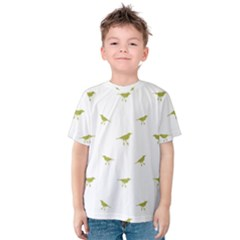 Birds Motif Pattern Kids  Cotton Tee