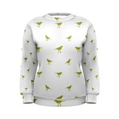 Birds Motif Pattern Women s Sweatshirt