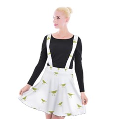 Birds Motif Pattern Suspender Skater Skirt