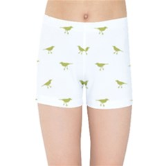 Birds Motif Pattern Kids Sports Shorts