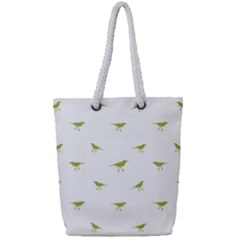 Birds Motif Pattern Full Print Rope Handle Bag (small)