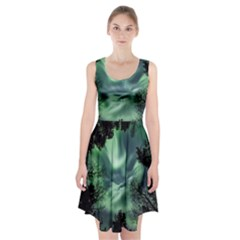 Northern Lights In The Forest Racerback Midi Dress
