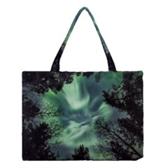 Northern Lights In The Forest Medium Tote Bag