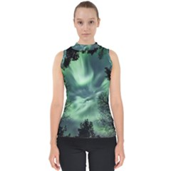 Northern Lights In The Forest Shell Top