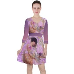Violets For The Birds  Ruffle Dress