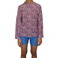 Flower Kaleidoscope 2 01 Kids  Long Sleeve Swimwear