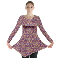 Flower Kaleidoscope 2 01 Long Sleeve Tunic