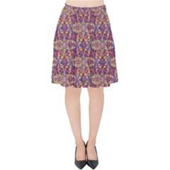 Flower Kaleidoscope 2 01 Velvet High Waist Skirt