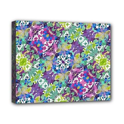 Colorful Modern Floral Print Canvas 10  X 8