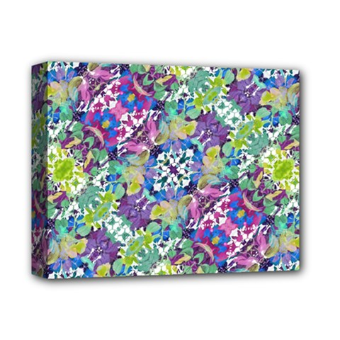 Colorful Modern Floral Print Deluxe Canvas 14  X 11