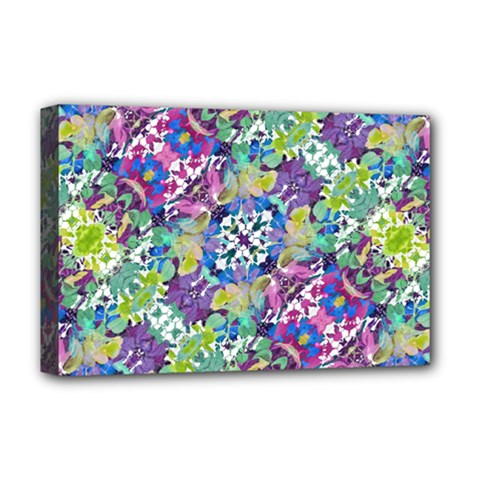 Colorful Modern Floral Print Deluxe Canvas 18  X 12