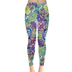 Colorful Modern Floral Print Leggings