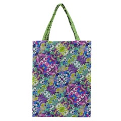 Colorful Modern Floral Print Classic Tote Bag