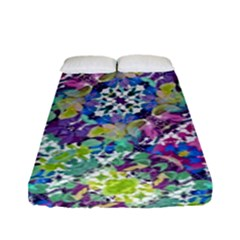 Colorful Modern Floral Print Fitted Sheet (full/ Double Size)