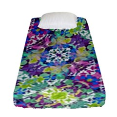 Colorful Modern Floral Print Fitted Sheet (single Size)