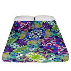 Colorful Modern Floral Print Fitted Sheet (queen Size)