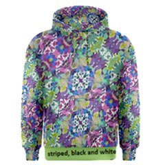 Colorful Modern Floral Print Men s Pullover Hoodie