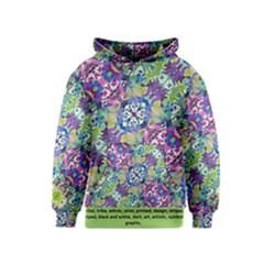 Colorful Modern Floral Print Kids  Pullover Hoodie