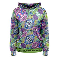 Colorful Modern Floral Print Women s Pullover Hoodie