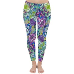 Colorful Modern Floral Print Classic Winter Leggings