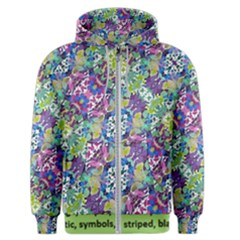 Colorful Modern Floral Print Men s Zipper Hoodie