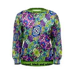 Colorful Modern Floral Print Women s Sweatshirt