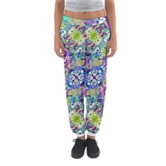 Colorful Modern Floral Print Women s Jogger Sweatpants