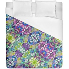 Colorful Modern Floral Print Duvet Cover (california King Size)