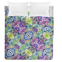 Colorful Modern Floral Print Duvet Cover Double Side (queen Size)