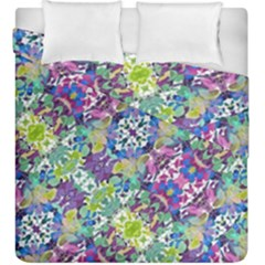 Colorful Modern Floral Print Duvet Cover Double Side (king Size)