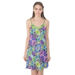 Colorful Modern Floral Print Camis Nightgown