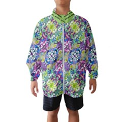 Colorful Modern Floral Print Wind Breaker (kids)