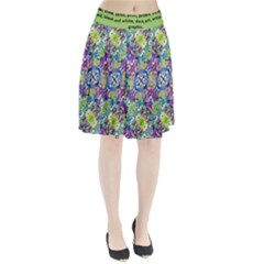Colorful Modern Floral Print Pleated Skirt
