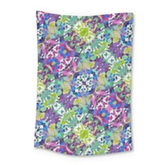 Colorful Modern Floral Print Small Tapestry