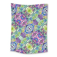 Colorful Modern Floral Print Medium Tapestry