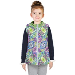 Colorful Modern Floral Print Kid s Puffer Vest