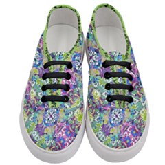 Colorful Modern Floral Print Women s Classic Low Top Sneakers
