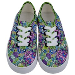 Colorful Modern Floral Print Kids  Classic Low Top Sneakers
