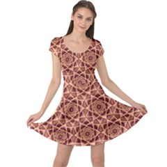 Flower Star Pattern  Cap Sleeve Dress