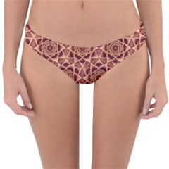Flower Star Pattern  Reversible Hipster Bikini Bottoms