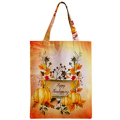 Happy Thanksgiving With Pumpkin Classic Tote Bag