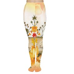 Happy Thanksgiving With Pumpkin Women s Tights