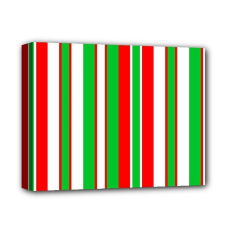 Christmas Holiday Stripes Red Deluxe Canvas 14  X 11