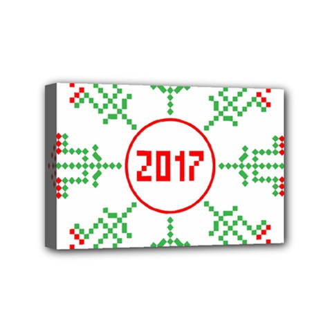 Snowflake Graphics Date Year Mini Canvas 6  X 4
