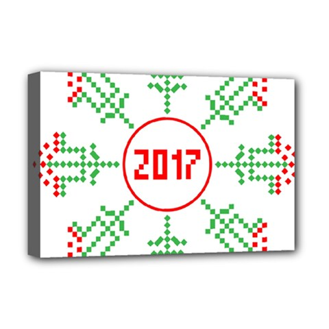 Snowflake Graphics Date Year Deluxe Canvas 18  X 12