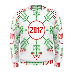 Snowflake Graphics Date Year Men s Sweatshirt