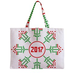Snowflake Graphics Date Year Zipper Mini Tote Bag