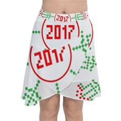 Snowflake Graphics Date Year Chiffon Wrap
