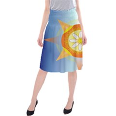 Star Pattern Background Midi Beach Skirt